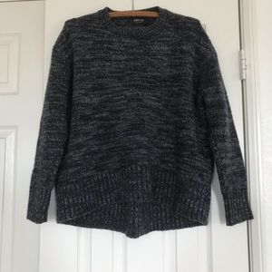 Zara Thick chunky knit Sweater (multicolor navy)